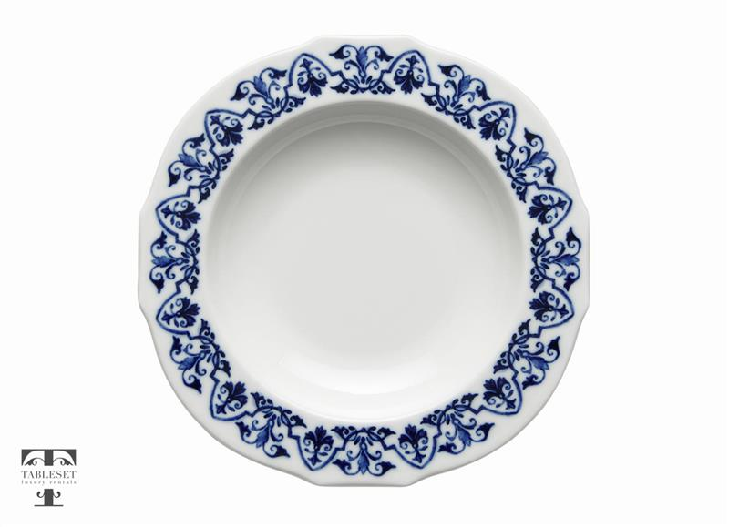 Tuscany ...  sc 1 st  Tableset rentals & Tuscany Soup Plate Blue Flowers - Tableset luxury rentals